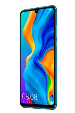 P30 lite Product Image_Standard_Blue_Front 30_Right_with UI_20190119